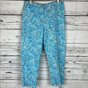 Lilly Pulitzer Blue Monkey Crop Pant 10